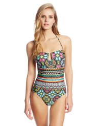 off the beaten path banded one piece swimsuit
